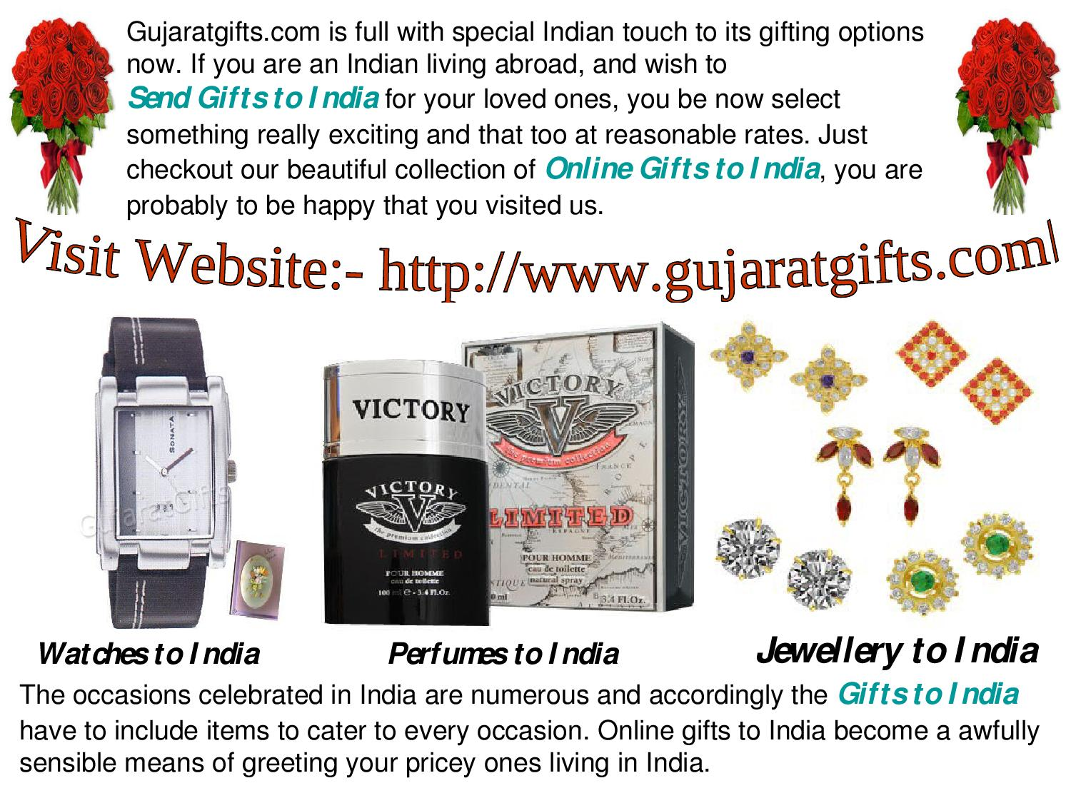 Special Occasions of Gifts to India by Gujaratgifts com by