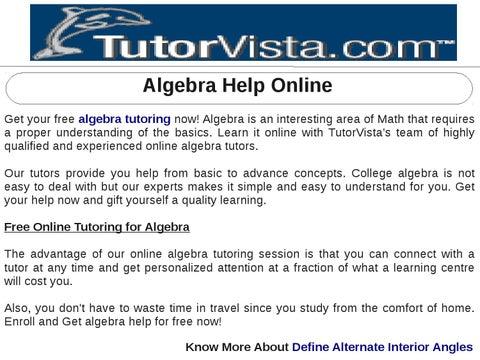college algebra help online