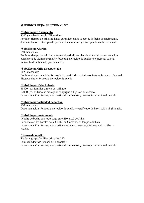 Subsidios de la UEJN2 by UEJN2 - Secretaria de Prensa - issuu