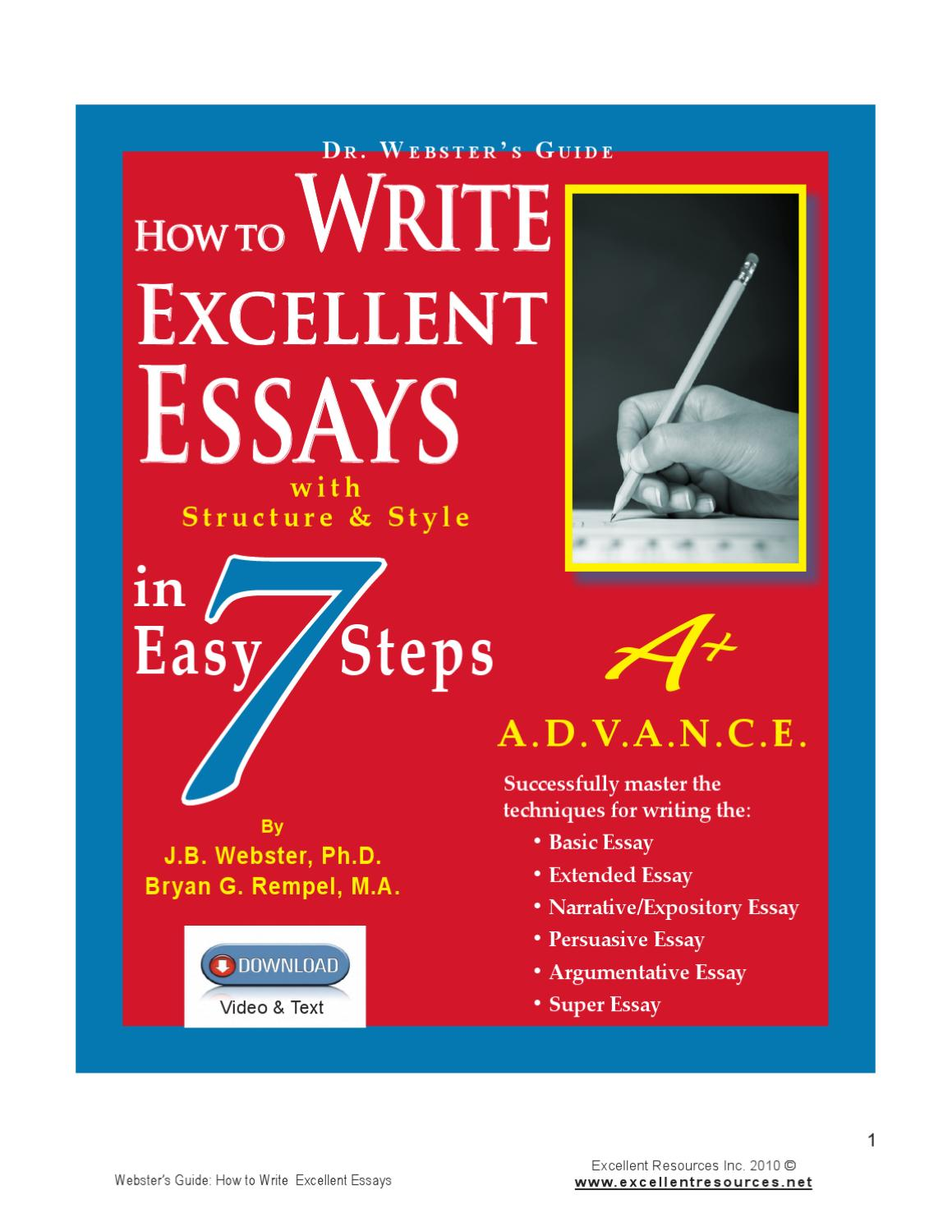 write an excellent essay How to write excellent thesis we've successfully helped hundreds of students around the world and try to keep it that way.