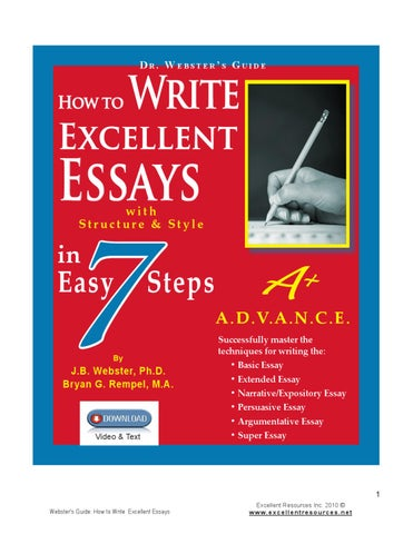 How To Write Excellent Essays In  Easy Steps By Bev Rempel  Issuu Page