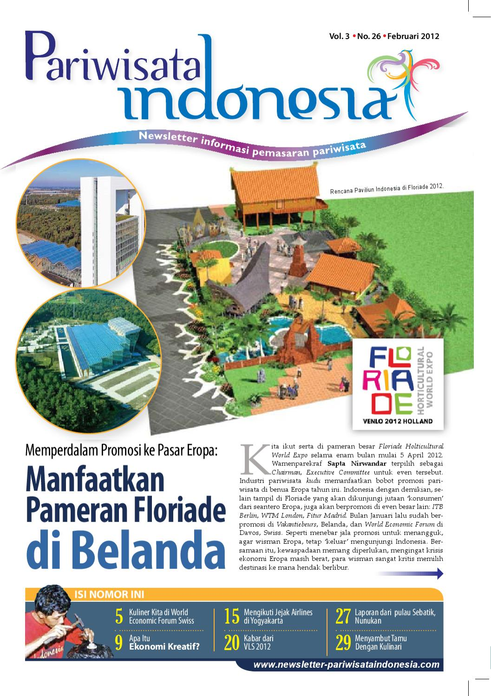 Newsletter Pariwisata Indonesia Edisi Terbaru Februari 2012 By Muhammad Muslih Issuu