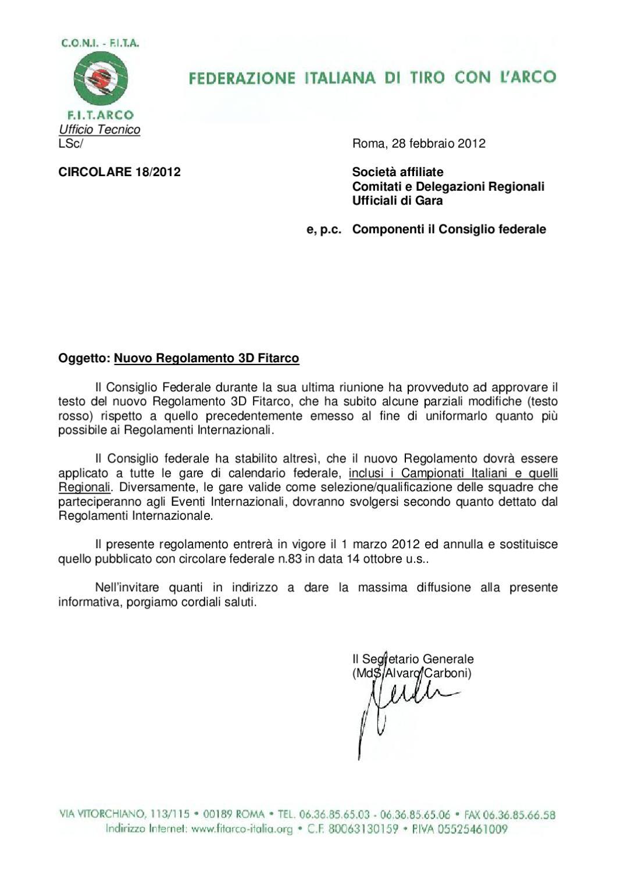 Calendario Fitarco.Nuovissimo Regolamento 3d Fita Dal 1 Marzo 2012 By Francesco