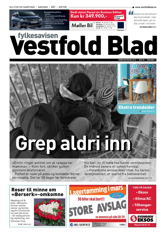 4de183e9 Vestfold Blad - uke 09 2012 by Byavisa Sandefjord - issuu