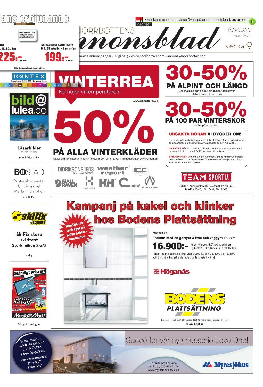 Norrbottens Annonsblad - Boden 2012 v.09 by Svenska Civildatalogerna AB -  issuu 00b9269945cdc