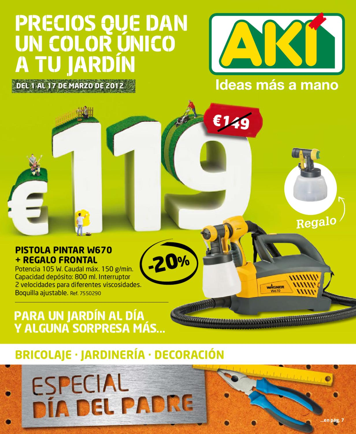 Cat logo aki ofertas marzo 2012 by issuu - Catalogo aki jardin ...