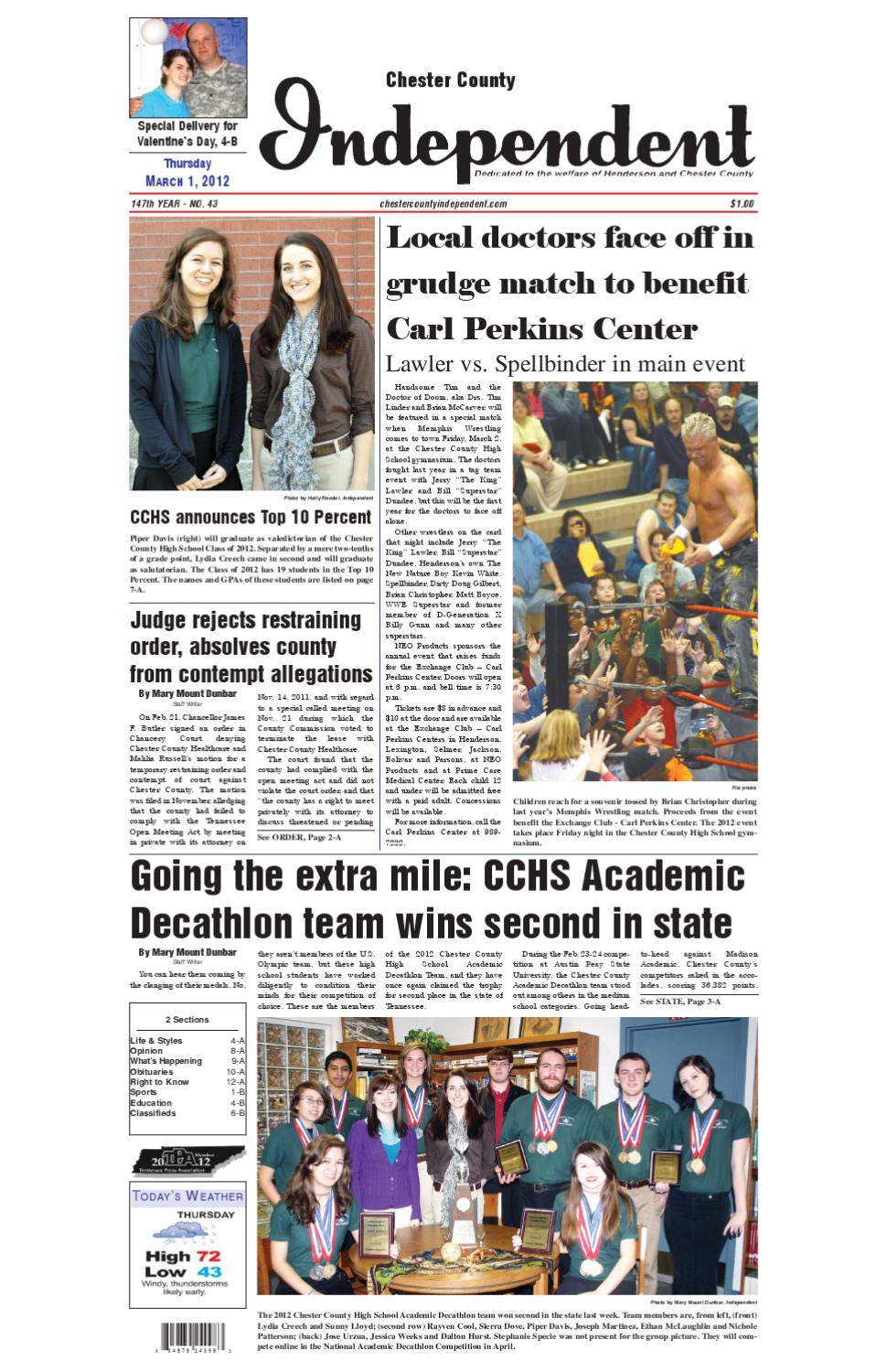 Chester County Independent 03-01-12 by Chester County
