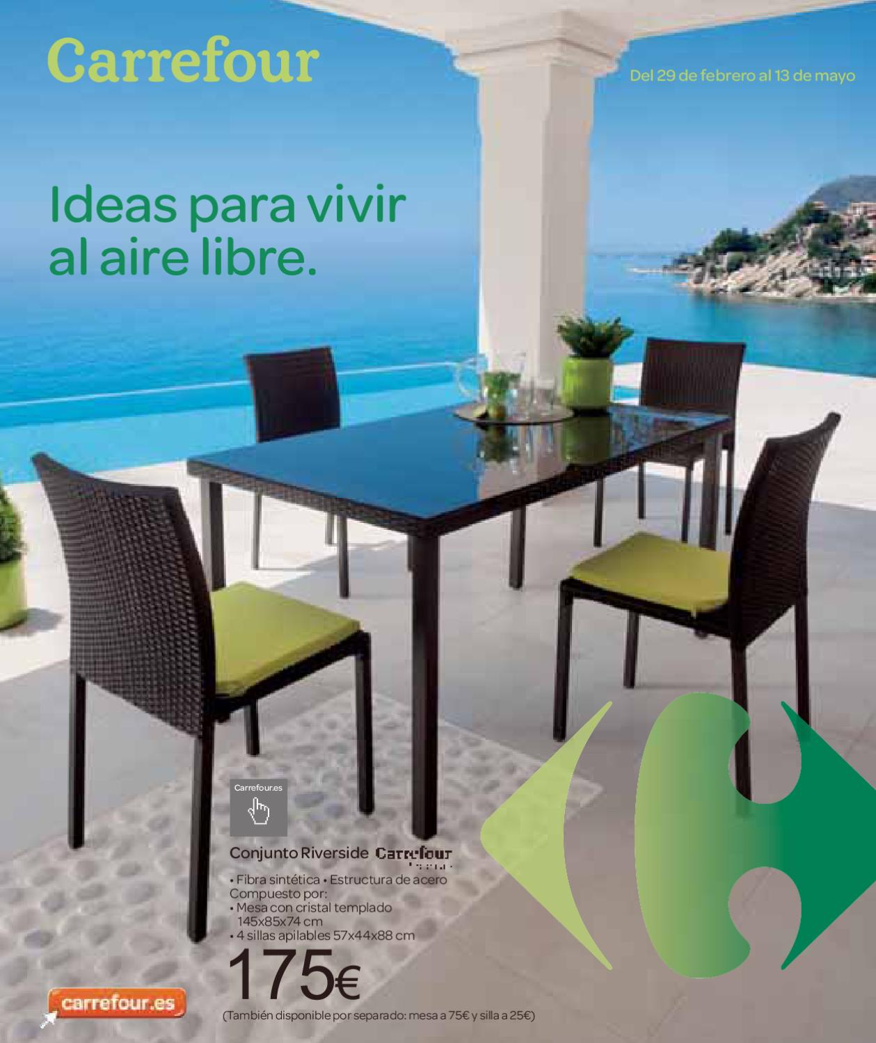 Cat logo carrefour muebles de jard n 2012 by for Catalogo carrefour muebles
