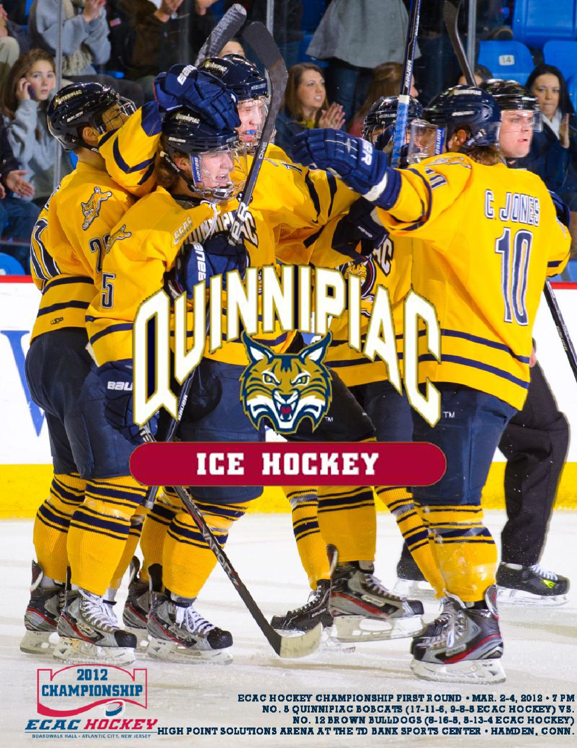 2011 12 Quinnipiac Men S Ice Hockey Ecac Hockey Tournament Guide By