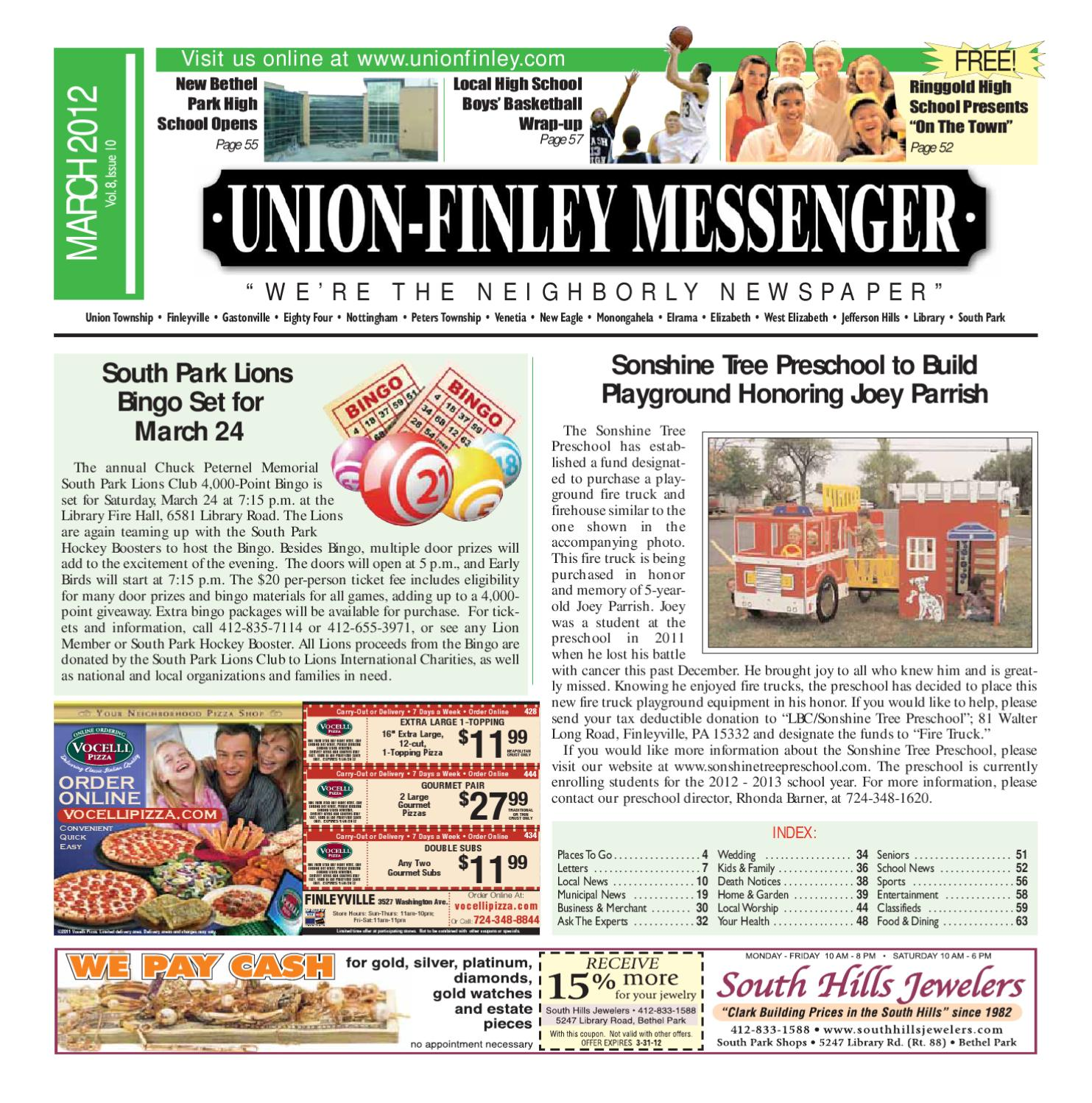 Union Finley Messenger March 2012 by South Hills Mon Valley