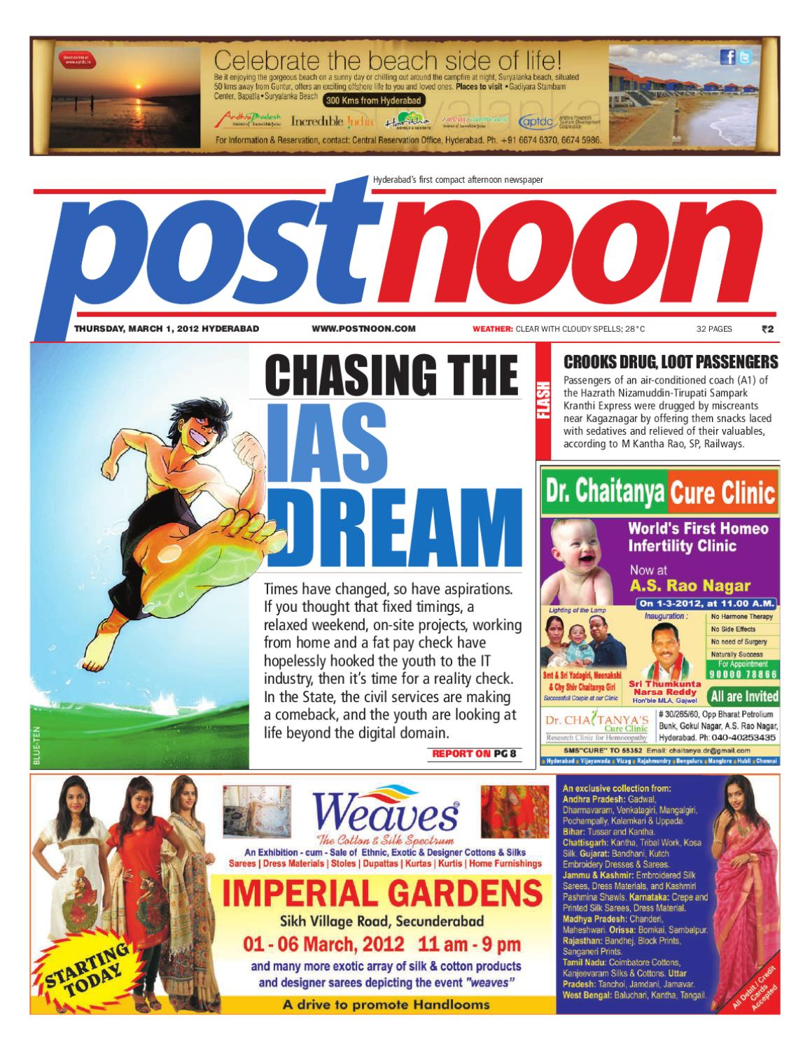 Postnoon E-Paper for 01 March 2012 by Scribble Media & Entertainment