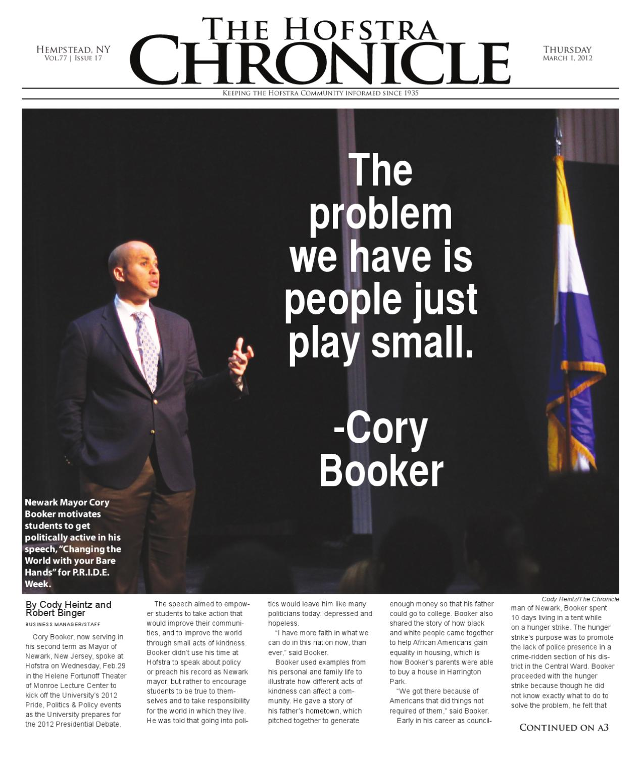 The Hofstra Chronicle: March 1st, 2012 Issue by The Hofstra