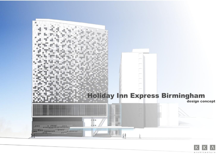 Holiday inn express birmingham design development by kka for 7047 design hotel