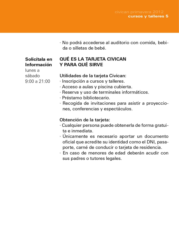 Cursos Y Talleres Civican Primavera 2012 By Civican Issuu