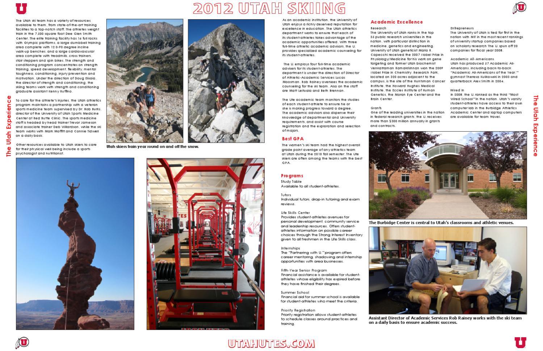 2011-12 University of Utah Skiing Media Guide by utah sid