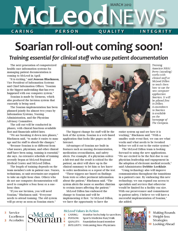 McLeod News -- March 2012 by McLeod Health - issuu