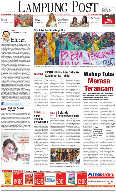 lampungpost edisi jumat 2 maret 2012 by Lampung Post - issuu ecfb060f62