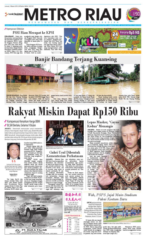 Metro Riau 02 03 2012 By Harian Pagi Issuu Mercedes Benz S 400 Tahun 20016 Karpet Mobil Comfort Deluxe 12mm Car Mat Full Set