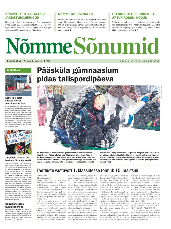 14b116c038a Nõmme Sõnumid nr 5 (2012) by Nõmme linnaosa - issuu