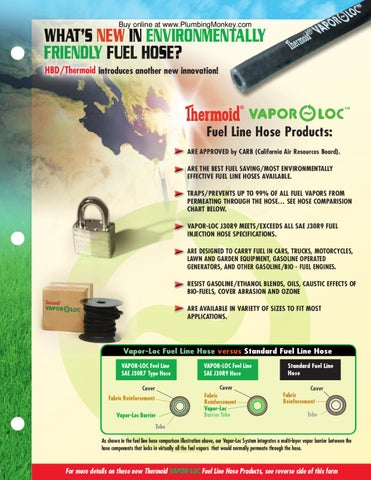 PlumbingMonkey com Vapor-loc Thermoid hose by Murdock Industrial Inc