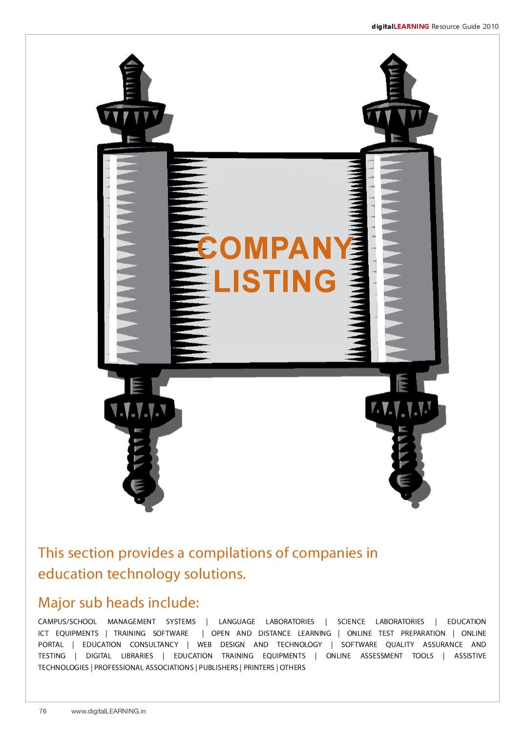 digitalLEARNING-June-2010-[76-87]-Company Listing by digital