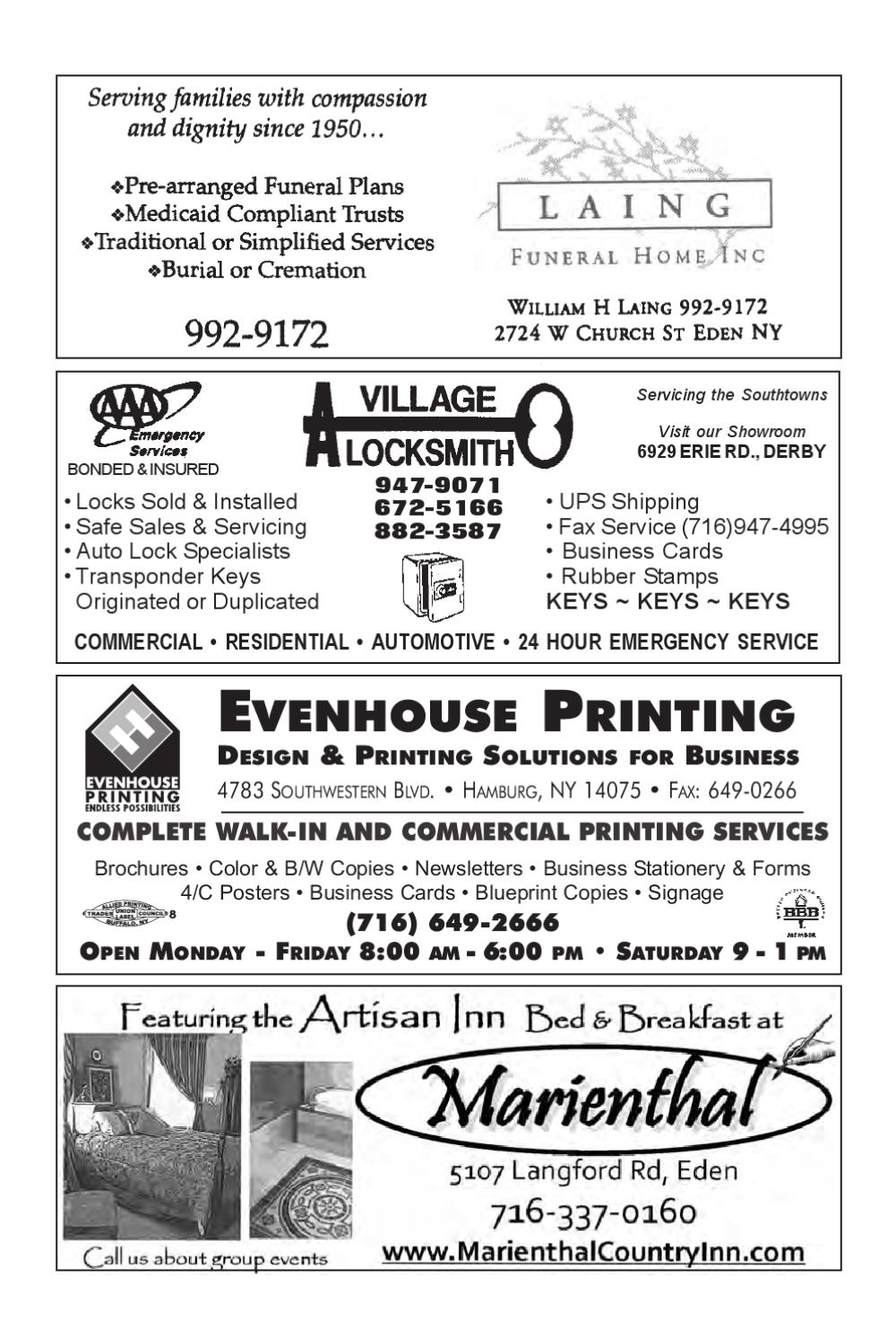 Eden ny 2009 10 phone directory by southtownspennysaver issuu reheart Images