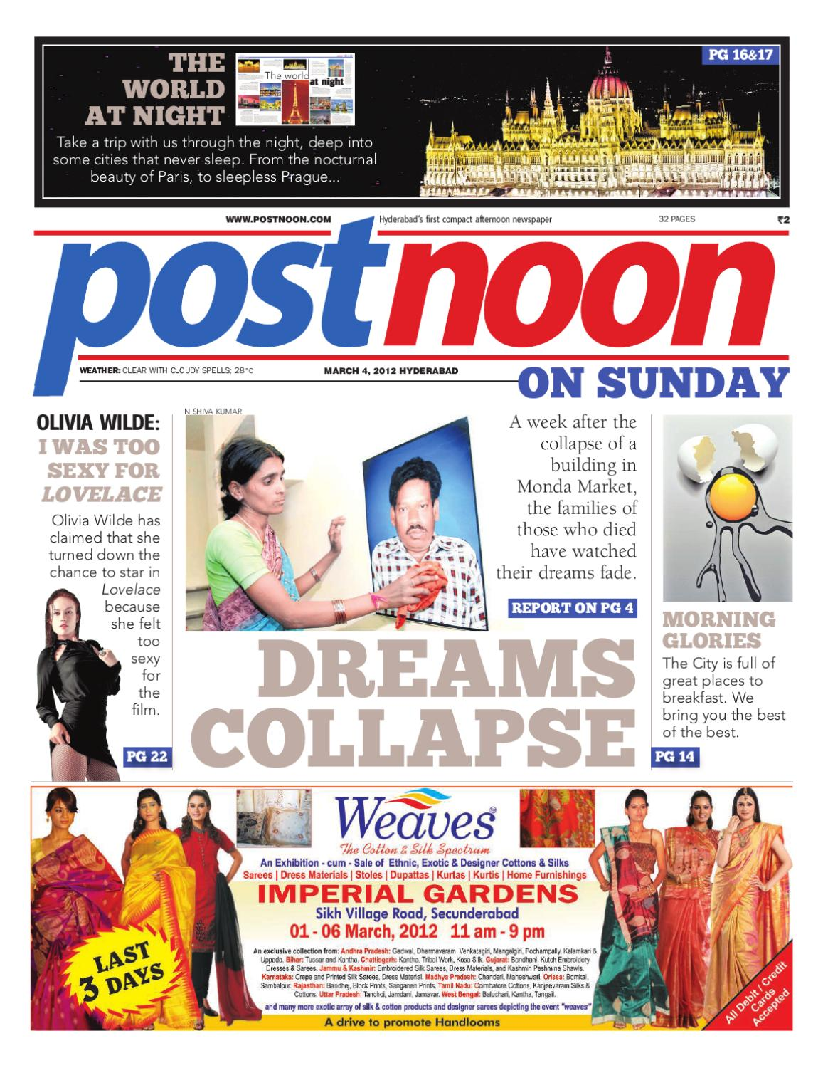 Postnoon E-Paper for 04 March 2012