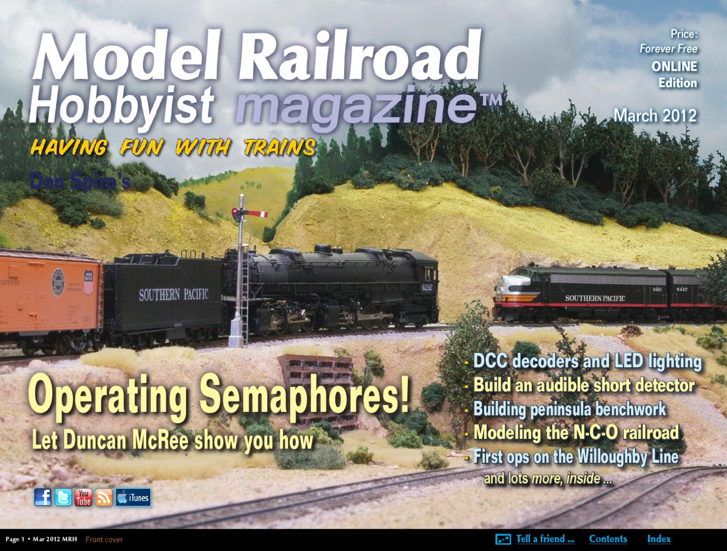 Mrh Mar 2012 Issue 25 By Model Railroad Hobbyist Magazine Issuu Trains Atlas Wiring Train Turntable