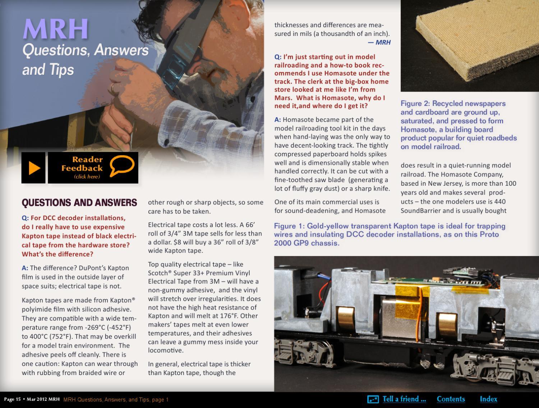 MRH Mar 2012 - Issue 25 by Model Railroad Hobbyist magazine - issuu