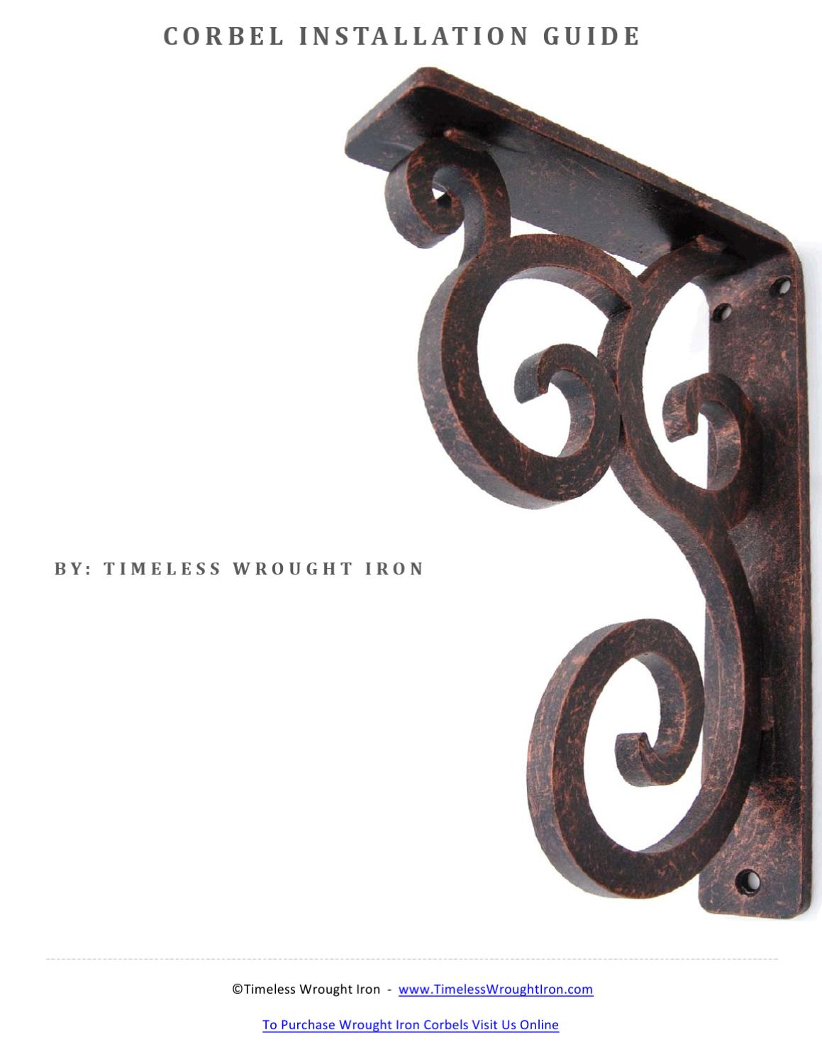 Picture of: Corbel Installation Guide By Timeless Wrought Iron Issuu