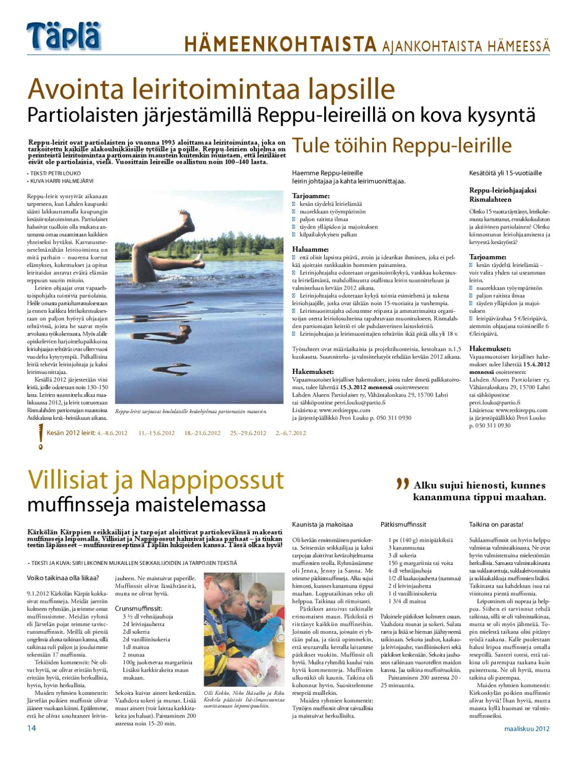 tapla1 2012 by Hämeen Partiopiiri - issuu 9ec1bf7279