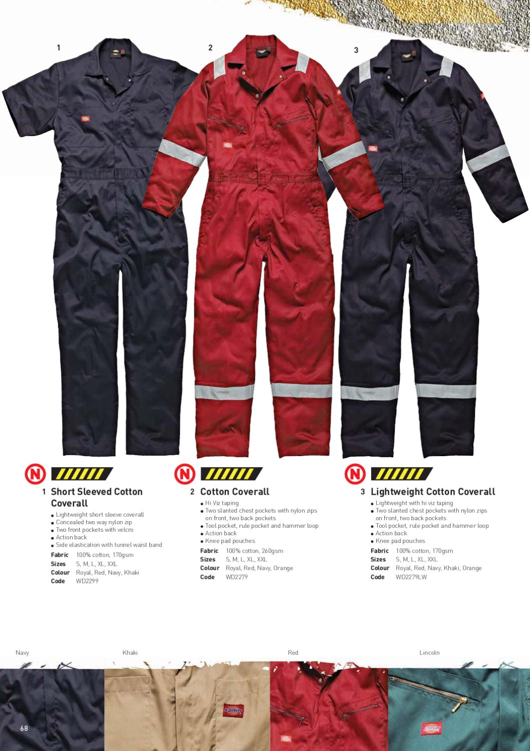 Xl Dickies Wd2299 S//Sleeve Cotton Coverall Navy