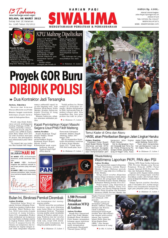 Edisi Selasa, 6 Maret 2012