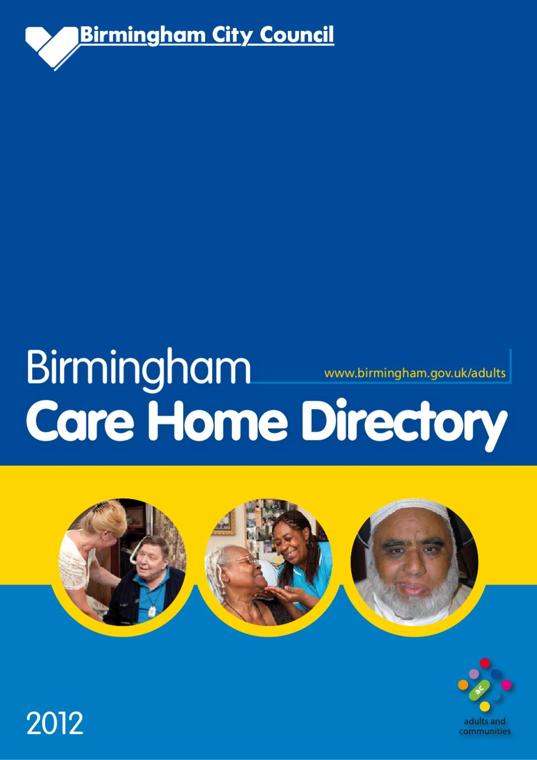 Birmingham Care Home Directory By Big Cub