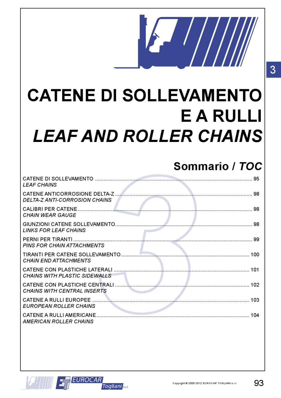 Eurocar catene di sollevamento e a rulli by Andrea Bigi - issuu