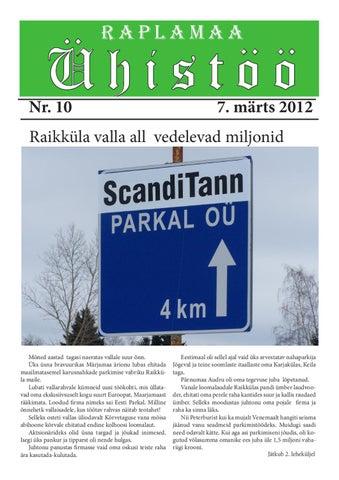 e92481f2415 Raplamaa Ühistöö nr 10 by Peeter Piir - issuu