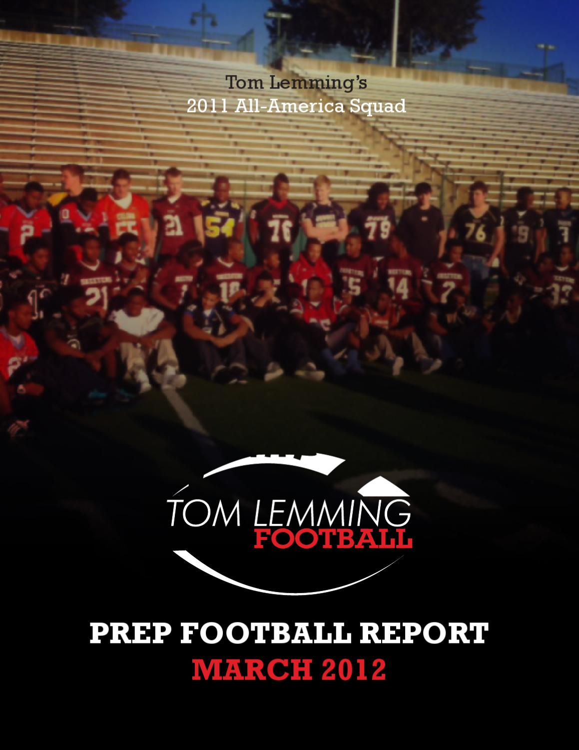 Tom lemming prep football report march by ncsa