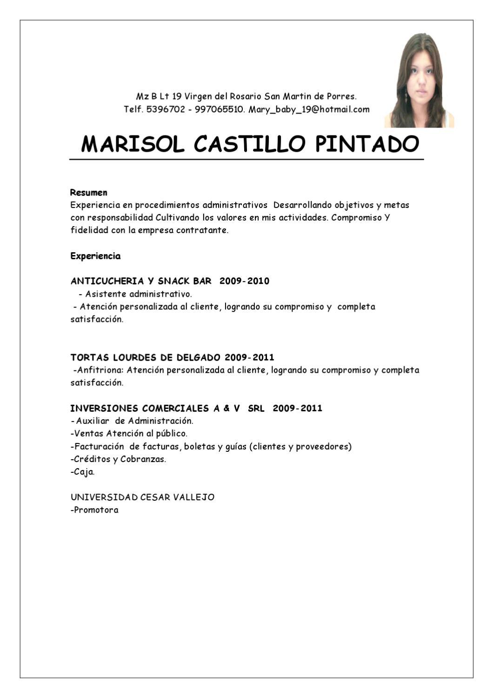 Excelente Plantillas De Currículum Para Asistente Administrativo ...