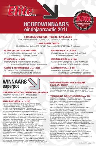 Hoofdwinaars eindejarsactie 2011 by crescendo nv issuu for Tegels van dyck