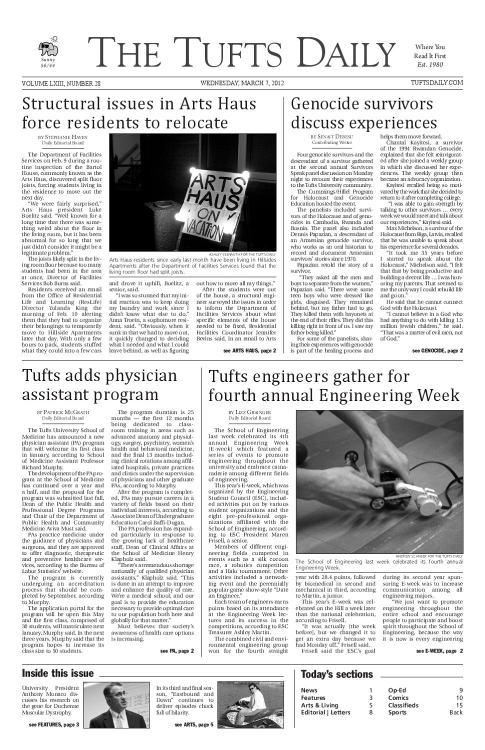 2012-03-07 by Tufts Daily - issuu