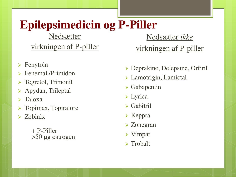 epilepsi medicin