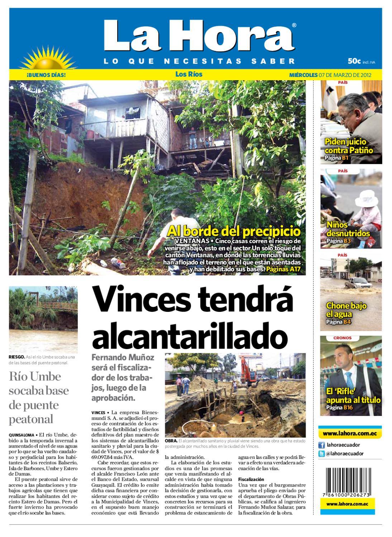 Edicion Impresa Los Rios Del 07 De Marzo De 2012 By Diario La Hora  # Muebles Umbe Horario