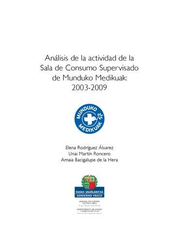 actividad sala de consumo supervisado munduko medikuak 2003 - 2009