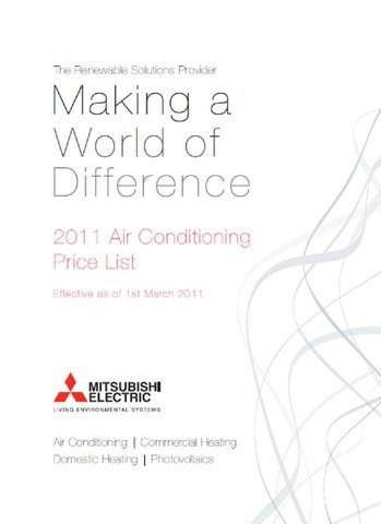 Mitsubishi Air Conditioning Price List by DISTRIBUCIONES CASAMAYOR