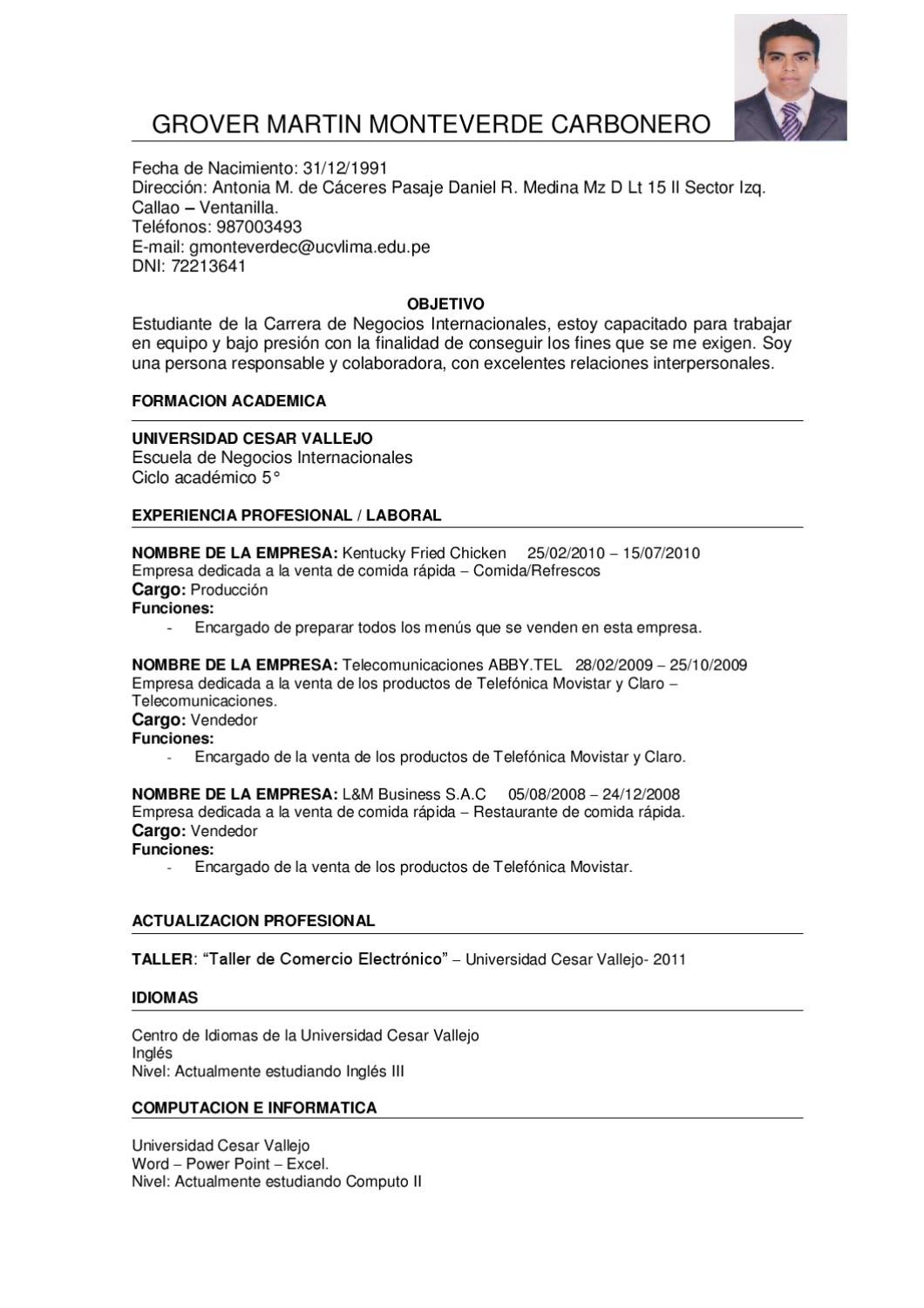 Curriculum Vitae by Grover Monteverde - issuu
