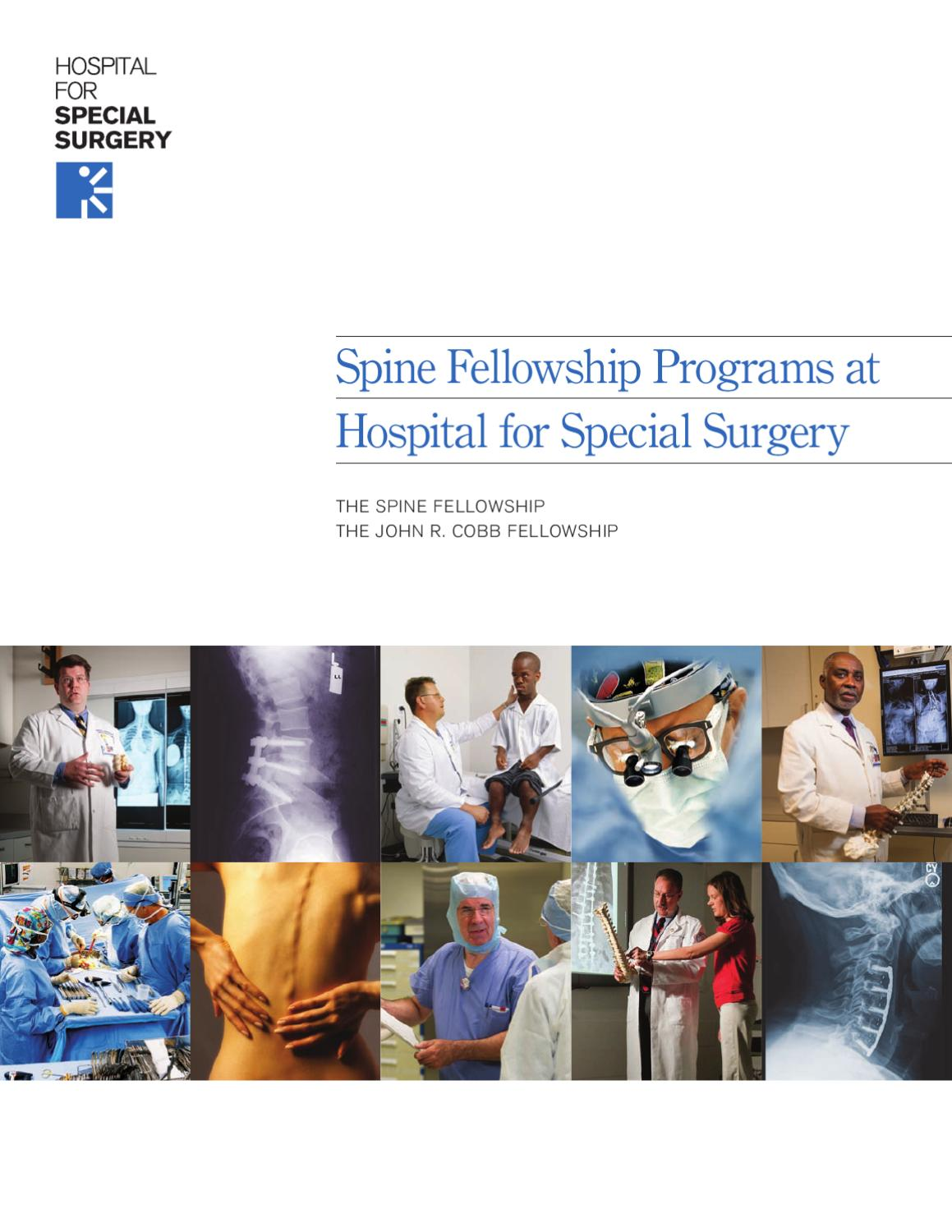 Spine Fellowship by Hospital for Special Surgery - issuu