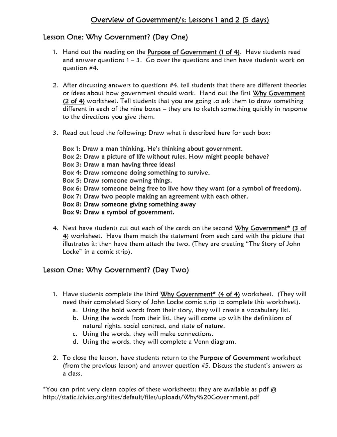 Workbooks types of government worksheets : Grade 5 Government Lessons 1 2 by Half Hollow Hills Schools - issuu