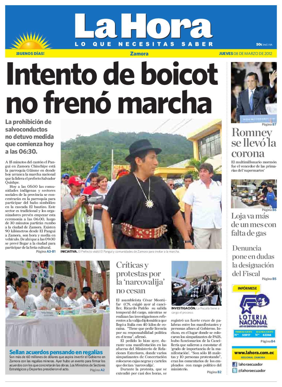 Hora Ecuador De 08 2012 Issuu Marzo By Diario La Zamora DIH2E9
