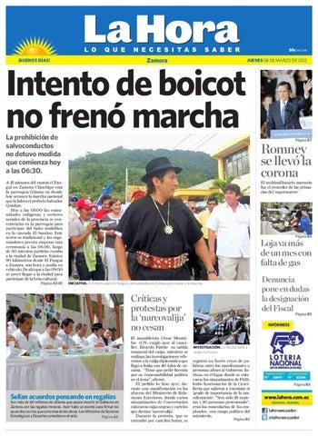 Diario La Hora Zamora 08 de Marzo 2012 by Diario La Hora Ecuador - issuu f510405e68489