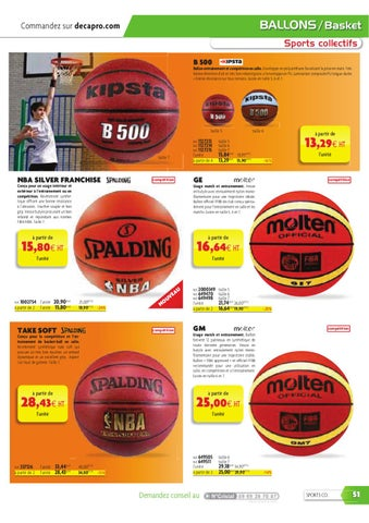 a74c1f5d5e Catalogue Decapro - Sports Collectifs by Decathlon Pro - issuu